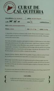 """El curado de leche cruda de Cal Quitèria ya forma parte del libro """"Formatges, ELS 50 MILLORS DE CATALUNYA""""."""